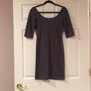Aqua grey elastic mini dress